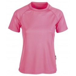 T-shirt sport respirant femme polyester col rond, 140 g/m²
