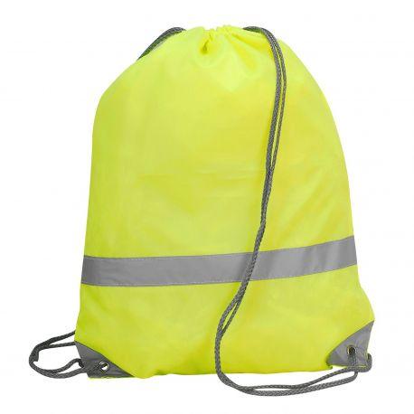Sac à dos ficelle en polyester haute visibilité et waterproof
