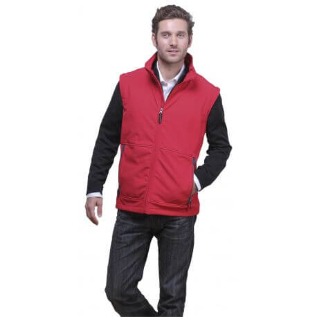 Gilet soft-shell pour homme ultra-léger, 340 g/m²