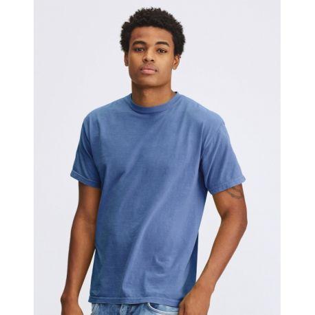 T-shirt homme col rond 100% coton ringspun teint et lavé, 207 g/m²