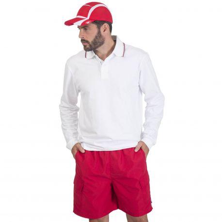 Short de sport avec 2 poches latérales, slip intérieur en maille filet
