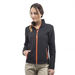 Veste soft-shell femme 2 couches Black & Match, respirant et coupe-vent