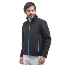 Veste soft-shell homme 2 couches Black & Match, respirant et coupe-vent