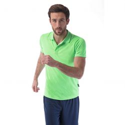 Polo sport respirant homme polyester, manches courtes, 140 g/m²
