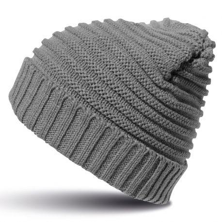 Bonnet très chaud tressée en polaire doublé