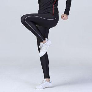 Legging femme respirant Quick Dry, avec logo réfléchissant