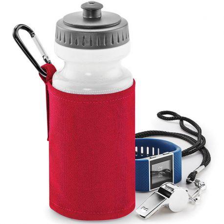 Bouteille et porte-bouteille ergonomique avec mousqueton