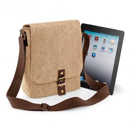 Sac reporter en bandoulière vintage pour iPad et tablette, 5 litres