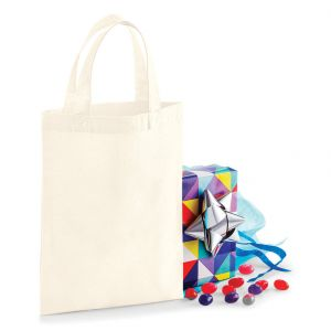 Mini tote bag, mini sac shopping coton vierge, 140 g/m²