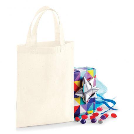 Mini tote bag, mini sac shopping coton vierge, 140 g/m²