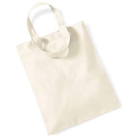 Petit tote bag coton, petit sac coton vierge, 140 g/m²