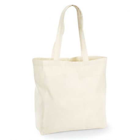 Sac shopping en coton grand volume, 140 g/m²