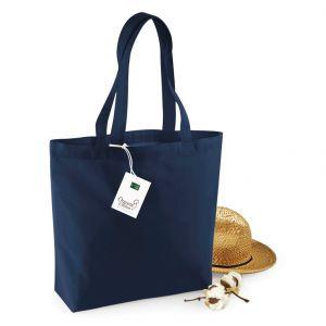 Sac shopping en coton bio avec soufflet, 170 g/m²