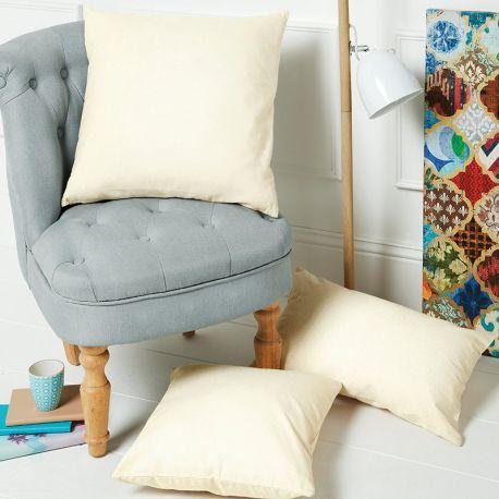 Housse de coussin en coton pas cher et facile à personnaliser, 305 g/m²