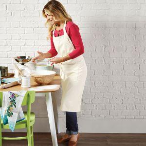 Tablier de cuisine adulte 100% coton commerce équitable, 290 g/m²
