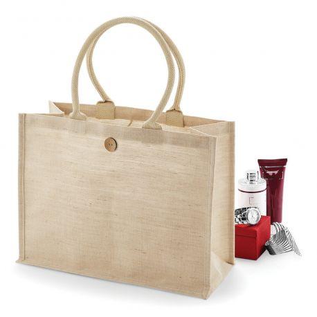 Grand sac shopping en juco, 75% jute, 25% coton
