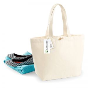 Sac shopping canvas en coton biologique, 340 g/m²