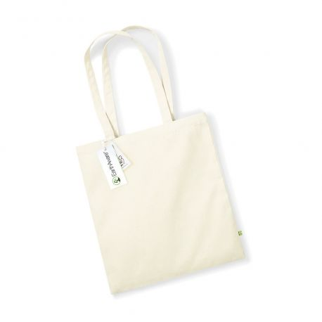 Sac shopping en coton bio canvas de grande qualité, 340 g/m²