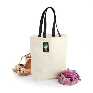 Sac shopping en coton canvas commerce équitable, 407 g/m²