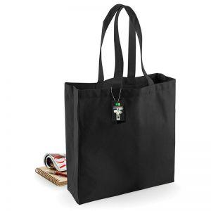 Grand sac shopping en coton canvas commerce équitable, 407 g/m²