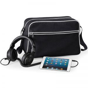 Grand sac rétro avec poches zippées et bandoulière ajustable