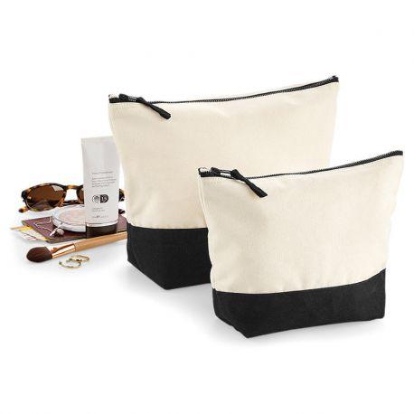 Trousse en coton brossé avec base colorée à personnaliser, 407 g/m²