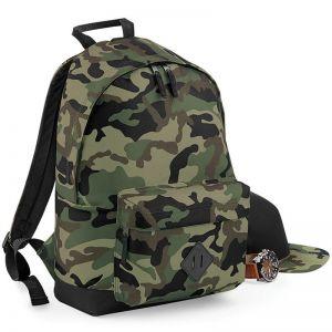 Sac à dos camouflage avec bretelles rembourrées réglables, 18 litres