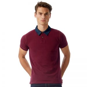 Polo homme col jean, 100% coton, 180 g/m²