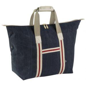Grand sac shopping en coton canvas délavé pour esprit marin