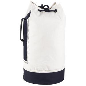 Sac marin en polyester 600D blanc et bleu marine