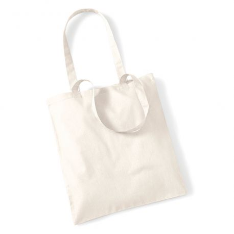 Tote bag, sac shopping coton blanc écru naturel