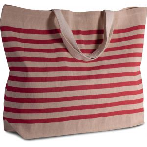 Très grand sac shopping en juco, anses courtes, 280 g/m²