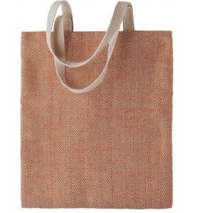 Sac shopping en jute teinte, anses en coton