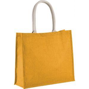 Grand sac shopping en toile de jute teinte, fermeture par scratch