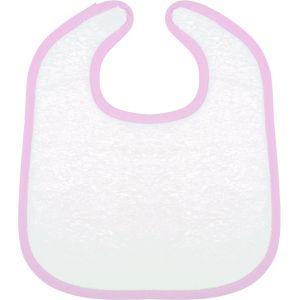 Bavoir éponge bébé, fermeture par scratch, 100% coton 400 g/m²