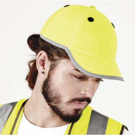 Casquette casque EN812 haute visibilité et réfléchissante