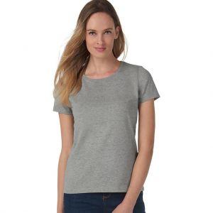 T-shirt femme coton col rond, manches courtes, 185 g/m²