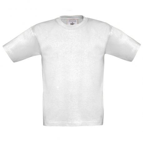 T-shirt enfant coton ringspun col rond, manches courtes, 185 g/m²
