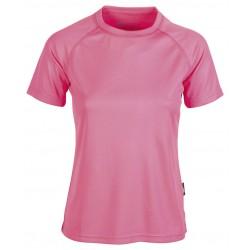 T-shirt sport respirant femme polyester col rond, 140 g/m²