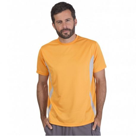 T-shirt sport respirant polyester Quick Dry, manches courtes, 140 g/m²