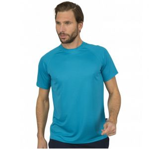T-shirt sport respirant homme polyester col rond, 140 g/m²