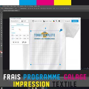 Frais technique Impression numérique sur textile