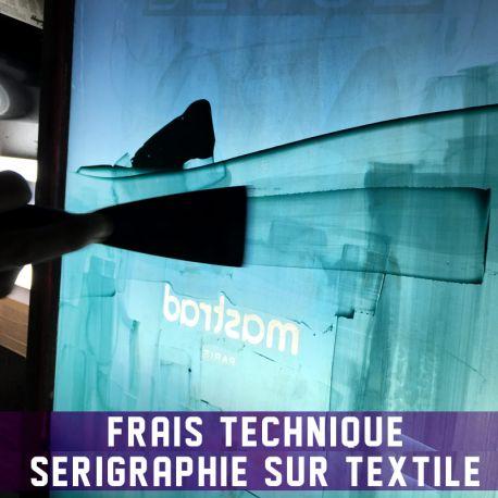 Frais technique Sérigraphie sur textile