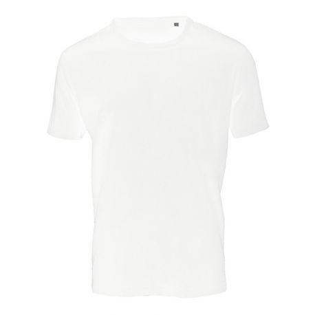 T-shirt sans étiquette, sans marque homme col rond, 100% coton, 160 g/m²