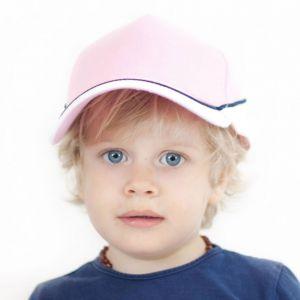 Casquette enfant de sport 5 panneaux avec visière contrastée