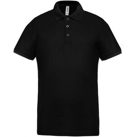 Polo performance homme, col et manches contrastées, 100% polyester piqué