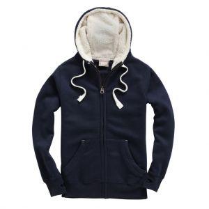 Sweat à capuche zippé avec doublure molletonnée, 330 g/m²