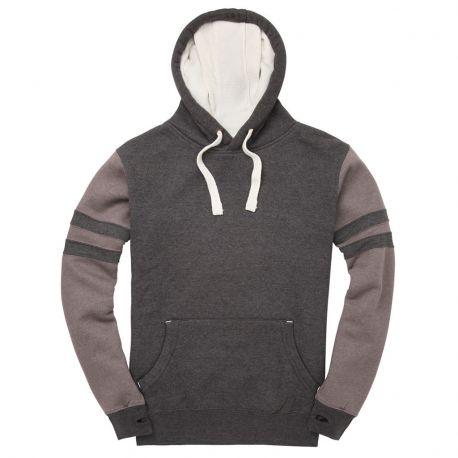 Sweat-shirt à capuche doublé bicolore, touché pêche, 330 g/m²