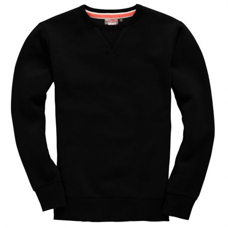 Sweat-shirt set-in épais, avec surpiqûre en V sur le col, 330 g/m²