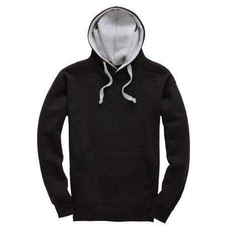 Sweat-shirt épais bicolore avec capuche doublée, 310 g/m²